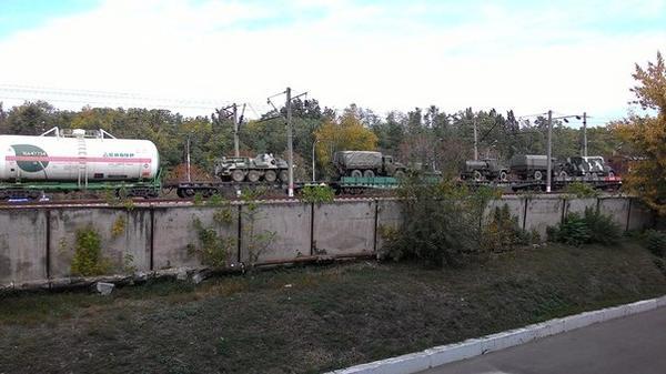 Russian military echelon in Novorossiysk