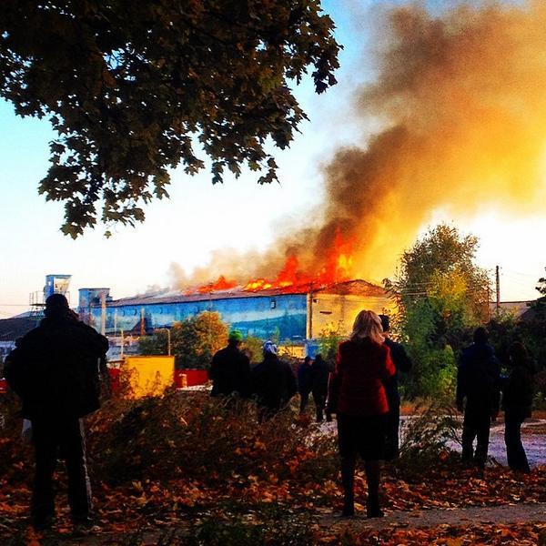 Fire in penal colony in Kharkiv