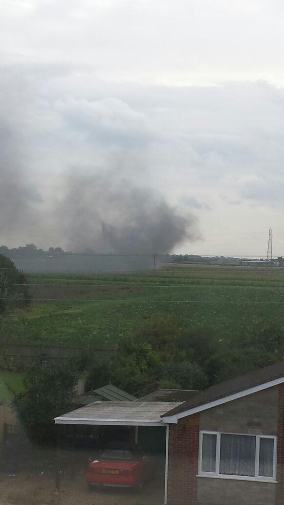 F-15 Plane crash near Weston Hills Spalding  - 2 crew ejected