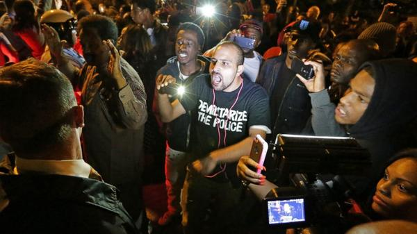 Protesters marching in St. Louis after off-duty officer shoots, kills man