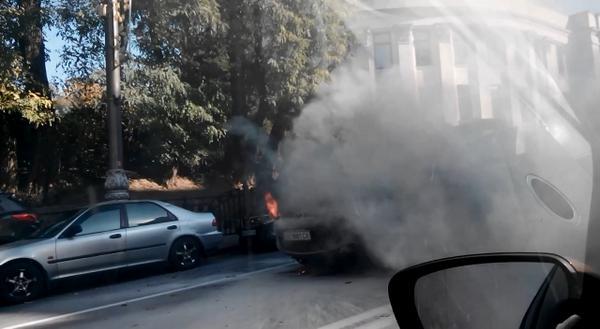 Jeep burned near Rada