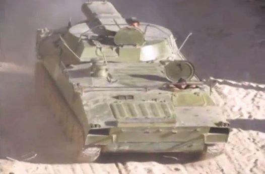 SAA use Mine-clearing tank in Jobar