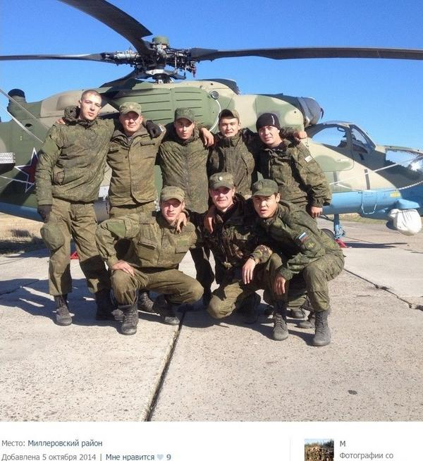 In Millerovo Russian army peacekeeping Mi24(35) spotted, from Gudauta.