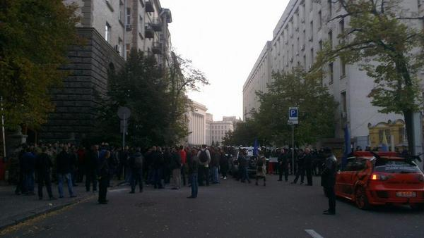 Tires and fights near President Administration