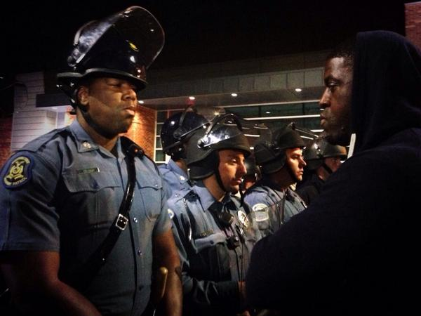 Confrontation in St. Louis