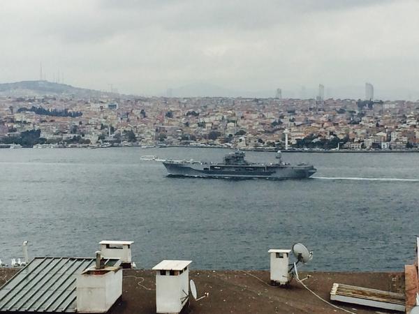 Blue Ridge class USS Mount Whitney is on the Bosphorus, will enter Black Sea