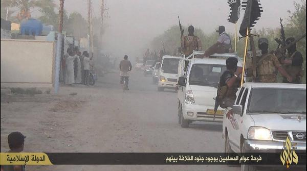 IS convoy operating in the Miqdadiyaharea north of Baghdad