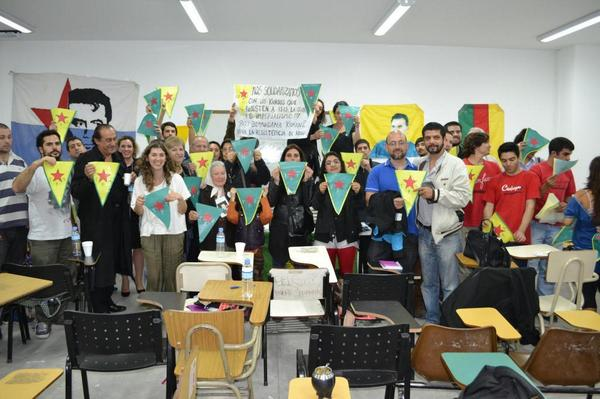 Solidarity with Kobane, University of La Plata, Argentina