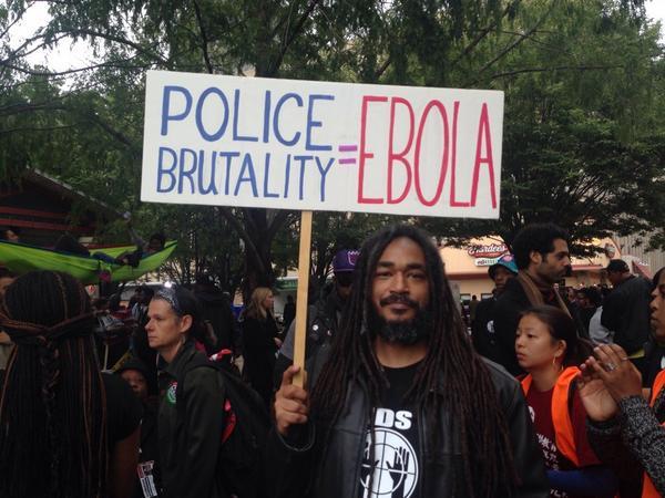 Police brutality = Ebola