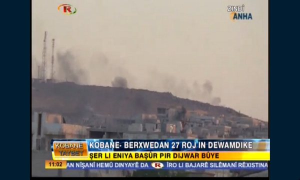 ISIS has set many houses on fire to hide from airstrikes in Kobane