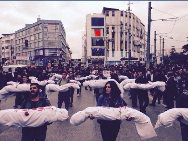 Rally in istanbul for Kobane