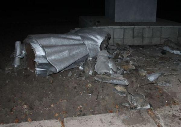 A third Lenin has collapsed in KryviyRih