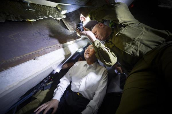 Today Secretary-General ban Ki-moon visited one of the terrorist tunnels in southern Israel