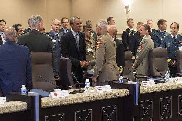 Pres. Obama met with defense ministers from 21 countries to discuss strategy in combating ISIS.