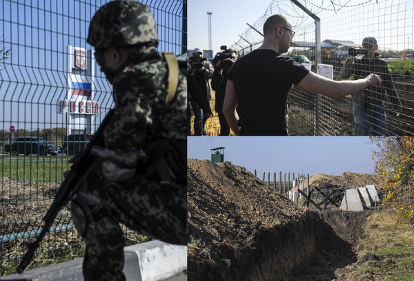 EU provided $20M to build the Ukraine Wall, @Yatsenyuk_AP says.