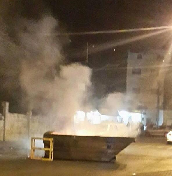 Clashes ongoing in tonight, rubber bullets and tear gas used against Palestinian youths