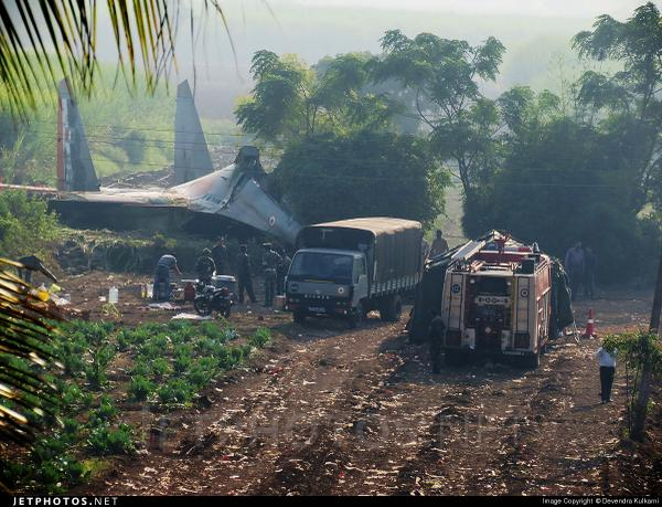 Another view of the SU 30 Pune crash shows that aircraft has hit the ground very flat and slow