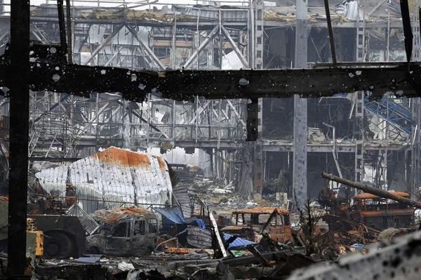 Stunning image from inside Donetsk airport today