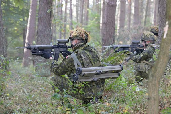 .@CanadianForces soldiers conduct live fire training exercise with Allies in C and E Europe