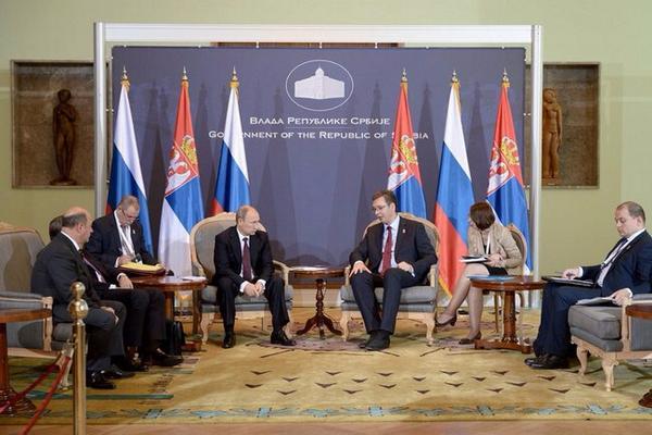 Vladimir Putin met with Prime Minister of the Republic of Serbia Aleksandar Vucic