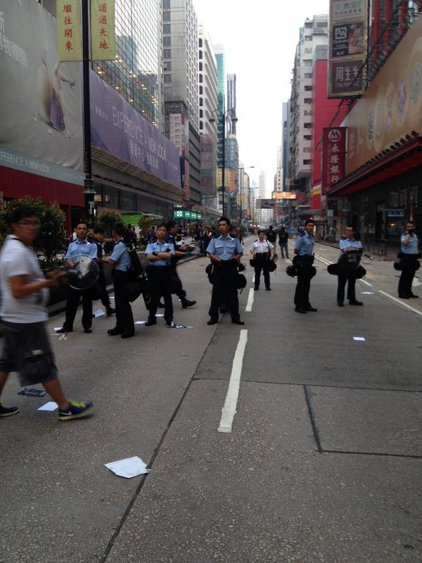 Good morning from Hong Kong. The Mong Kok protest site was cleared early this morning.