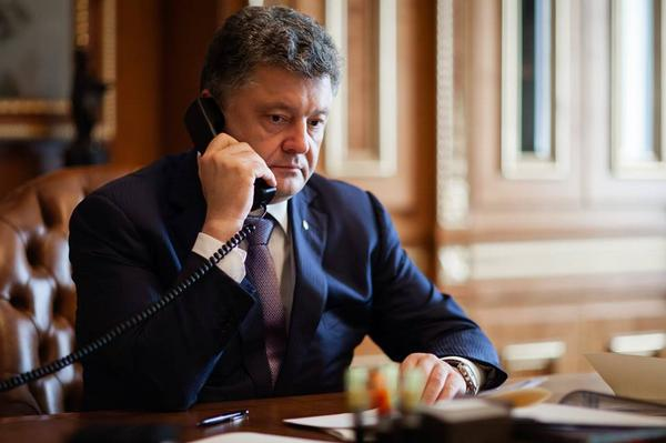 The President Poroshenko had a telephone conversation with U.S. President