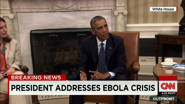 POTUS on Ebola crisis in U.S.: We are taking this very seriously at the highest levels, starting with me.
