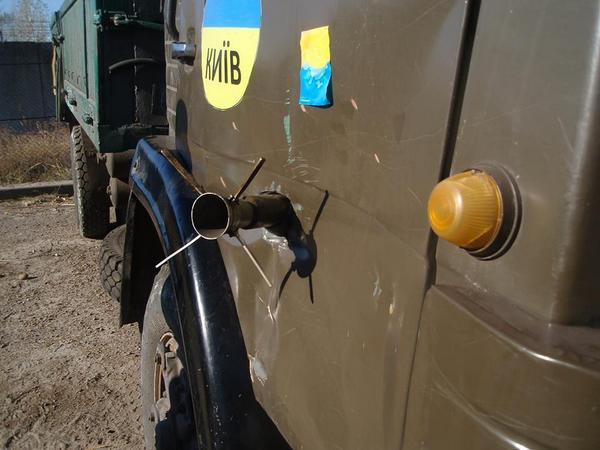 Shell hit truck and haven't exploded