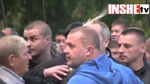 MP Shufrych got egg headshot in Mykolaiv today