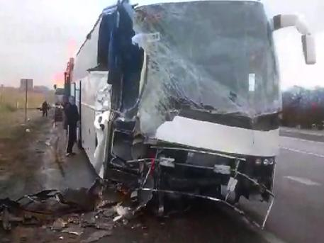 In the Rostov region, the bus collided with the excavator