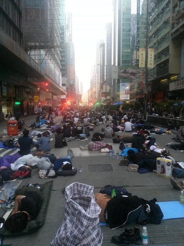 Saturday Mong Kok sit-in.