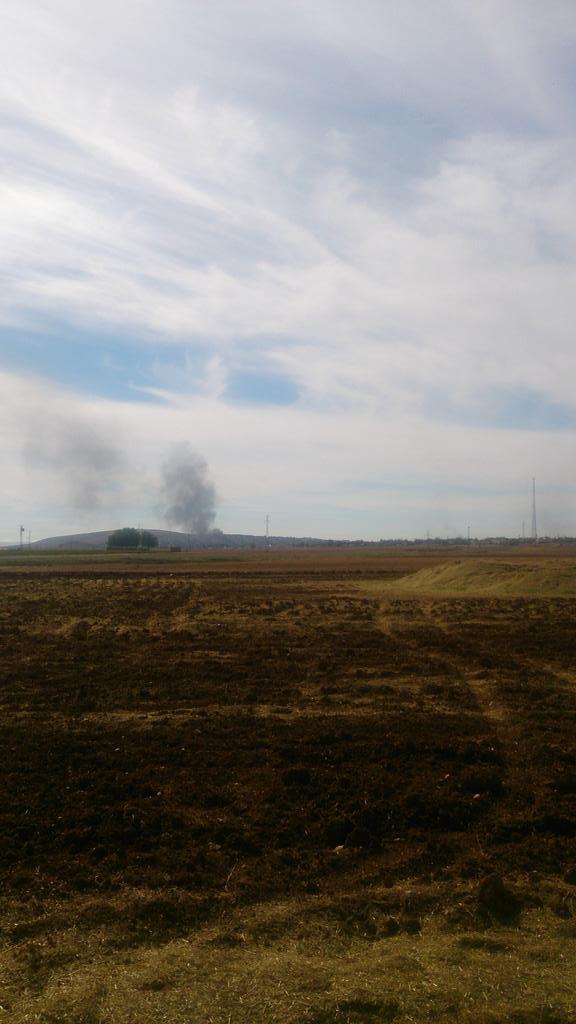 Smoke in Kobane now