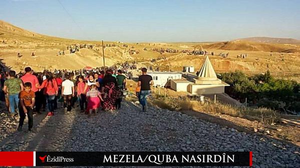 ISIS destroy last holy Ezidi shrine Mezela Nasridîn
