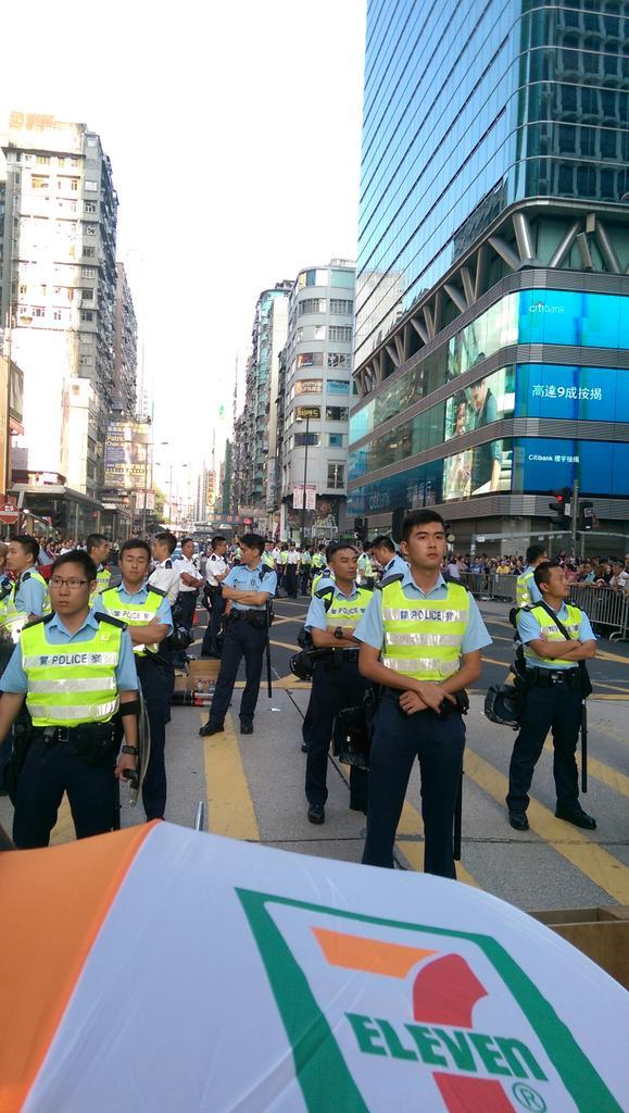 Facing police at the Argyle Street frontline