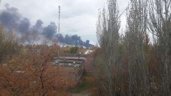 Smoke in area of Donetsk Chemical plant