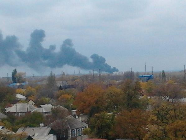 Donetsk is burning