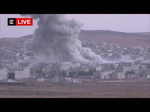 Explosion just now in Kobani