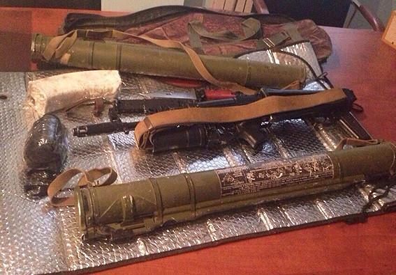 Firearms, ammunition and explosives were found in a police raid in Odessa yesterday. 3 people were Detained.