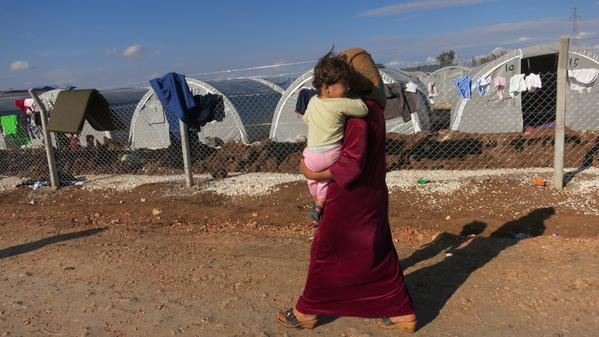 Refugee camps are extending in Turkey Suruc