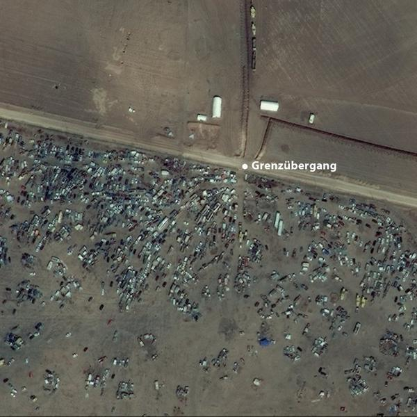 A picture from Kobane and vehicles left on Syrian side of Border by Kurdish refugees