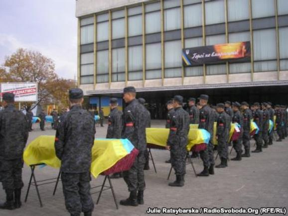 Dnipropetrovsk said goodbye to 21 unknown soldier who were killed in the Donbass