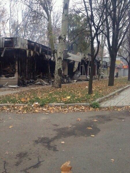 Yesterday's hits near  the Putilov market in Donestk