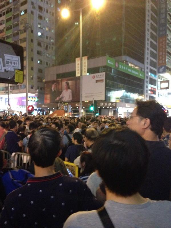People flood to Mongkok as it's getting late