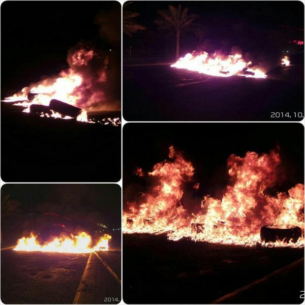 Bahrain: Revolutionary youth ignite barricades in the town of Diraz