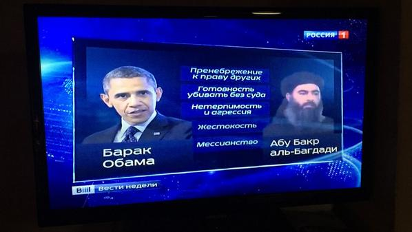 Kiselyov of Russian TV compares Barack Obama with Abu Bakr al-Baghdadi