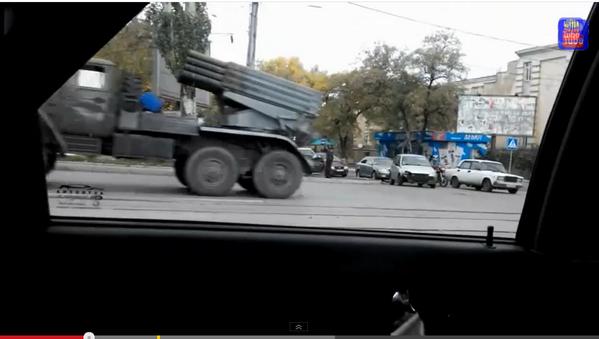 BM-21 GRAD Rocket launchers in Donetsk