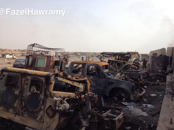 Iraq paid big sums for these US Humvees. Isis seized them in June& then US destroyed them with a missile near Kirkuk