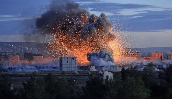 Explosions in Kobane