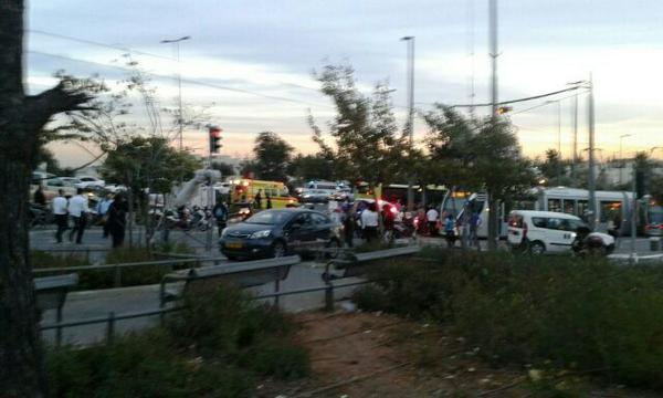 Man struck multiple people leaving light rail in Jerusalem, suspect shot dead, 3 wounded.