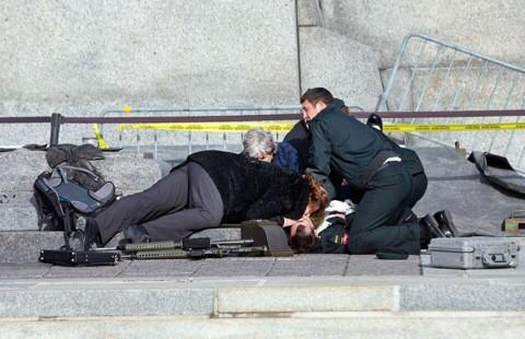 Just in: Canadian soldier shot at war memorial has died